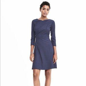 NWOT Banana Republic Stretch Wool Flare Dress 0